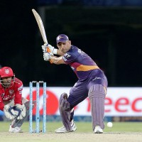 Rising Pune Supergiants captain MS Dhoni plays a shot during match 53 of the Vivo IPL 2016 (Indian Premier League) between Rising Pune Supergiants and the Kings XI Punjab held at the ACA-VDCA Stadium, Visakhapatnam on the 21st May 2016  Photo by Rahul Gulati / IPL/ SPORTZPICS