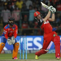 AB de Villiers of Royal Challengers Bangalore bats during match 57 (Qualifier 1) of the Vivo IPL ( Indian Premier League ) 2016 between the Gujarat Lions and the Royal Challengers Bangalore held at The M. Chinnaswamy Stadium in Bangalore, India,  on the 24th May 2016  Photo by Deepak Malik / IPL/ SPORTZPICS