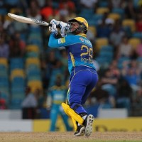 17 July 2016; Nicholas Pooran of the Tridents bats during Match 18 of the Hero Caribbean Premier League match between Barbados Tridents v St Lucia Zouks at Kensington Oval in Bridgetown, Barbados. Photo by Ashley Allen/Sportsfile