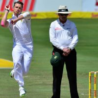 Dale Steyn of South Africa bowls  during Day 4 of the 2014 Sunfoil 1st Test between South Africa and Australia at Supersport Park, Centurion on 15 February 2014 ©Gavin Barker/BackpagePix